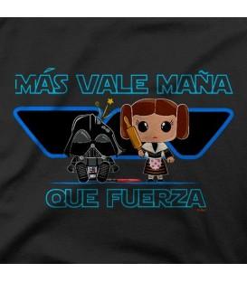 camisetas modelo MAS VALE MANYA QUE FUERZA
