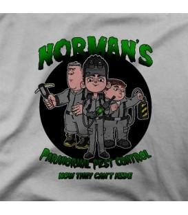 camisetas modelo PARANORMAL CONTROL PEST