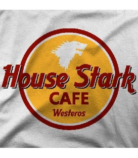 camisetas modelo HOUSE STARK CAFE