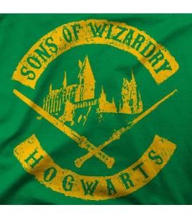 camisetas modelo SONS OF WIZARD DRY HOGWARTS