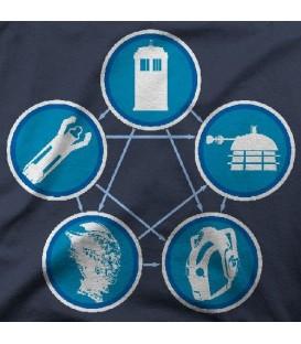 camisetas modelo TARDIS ONCLIZARD