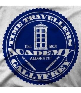 camisetas modelo TIME TRAVELLER ACADEMY BLUE