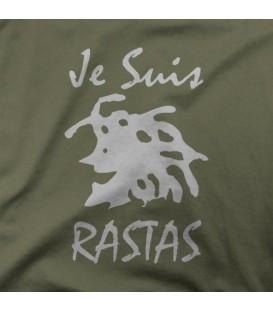 camisetas modelo JE SUIS RASTAS BLANCO