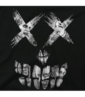 camisetas modelo SUICIDE FACE NEGRO