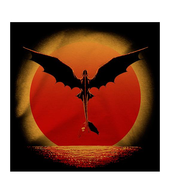 DRAGON ON SUNSET