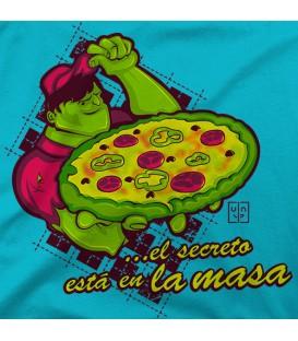 camisetas modelo EL SECRETO ESTÁ EN LA MASA
