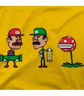 camisetas modelo WTF Mario