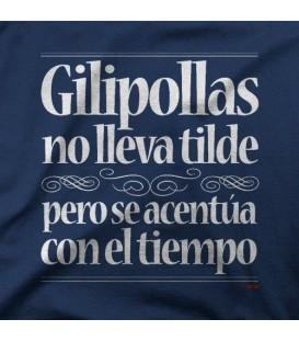 camisetas modelo GILIPOLLAS NO LLEVA TILDE