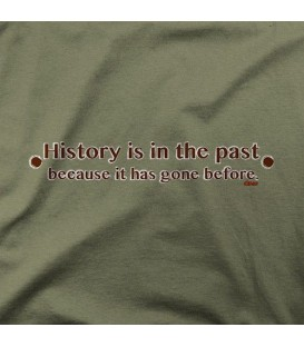 camisetas modelo HISTORY IS IN THE PAST