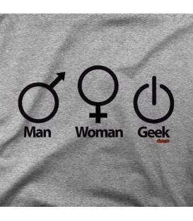 camisetas modelo MAN WOMAN GEEK