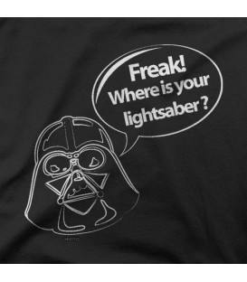 camisetas modelo WHERE IS YOUR LIGHTSABER