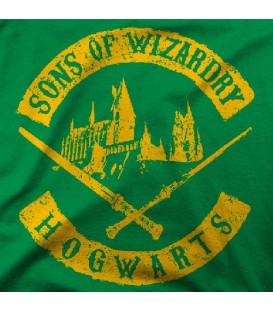 camisetas modelo SONS OF WIZARD DRY HOGWARTS