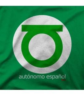 camisetas modelo AUTONOMO LINTERNA VERDE