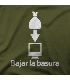 camisetas modelo BAJAR LA BASURA
