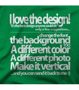camisetas modelo I LOVE THE DESIGN