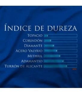 camisetas modelo INDICE DE DUREZA