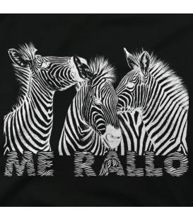 camisetas modelo ZEBRAS ME RALLO oscura