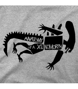 camisetas modelo ANATOMY OF XENOMORPH
