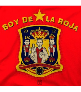 camisetas modelo SOY DE LA ROJA