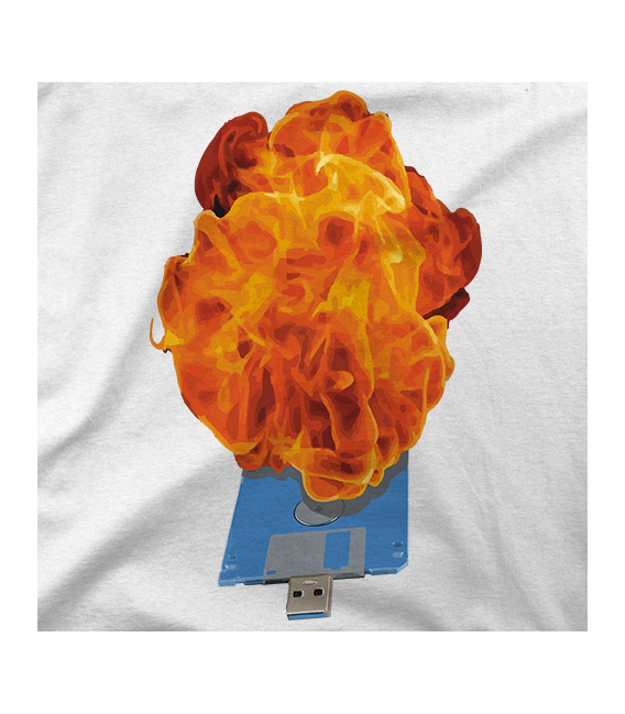 Diskette On Fire