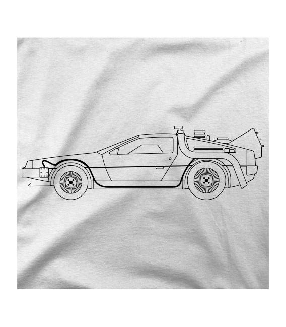 Regreso al Futuro - DeLorean trazo Negro