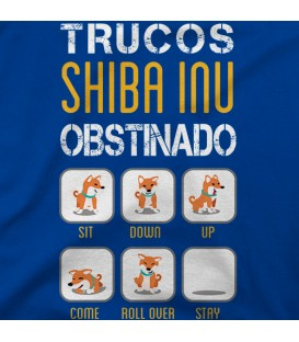 camisetas-de-mascotas modelo Trucos Shiba Inu obstinado