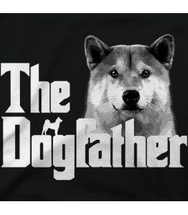 camisetas-de-mascotas modelo The Dogfather BN