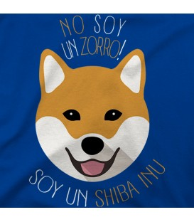 camisetas-de-mascotas modelo No soy un zorro, soy un Shiba Inu