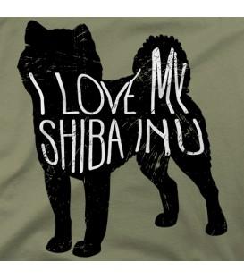 camisetas-de-mascotas modelo I love my Shiba Inu