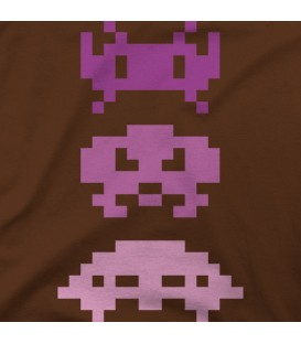 camisetas modelo Pink invaders