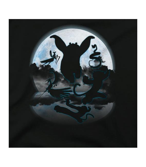 Original Crane In The Moonlight