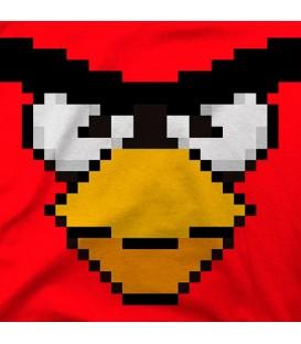 camisetas-frikis modelo Angry Bird rojo
