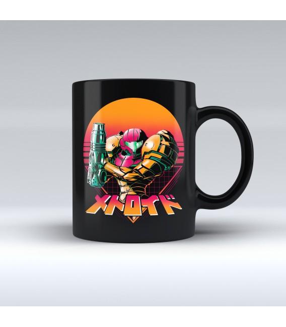 Taza Negra Retro Machete