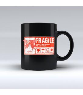 Taza Negra Fragile