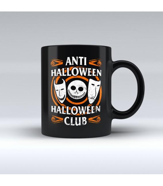 Taza Negra Anti Halloween