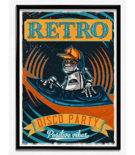 Lámina Reto Disco Party