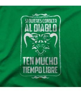 camisetas modelo SI QUIERES CONOCER EL CAMINO DEL DIABLO